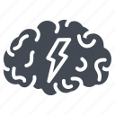 brain, business, human, idea, organ, solid, storm icon