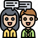 talk, conversation, communication, consult, discuss