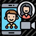 video, call, online, conversation, communication