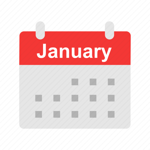 events, january, month, schedule icon