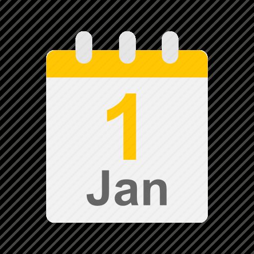 calendar, date, flip calendar, new year icon