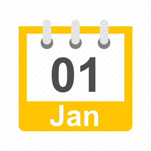 calendar, january, new year, schedule icon