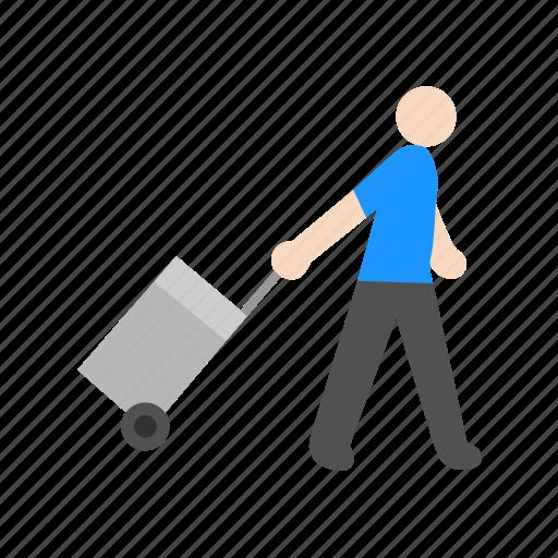 luggage, suitcase, traveler, vacation icon