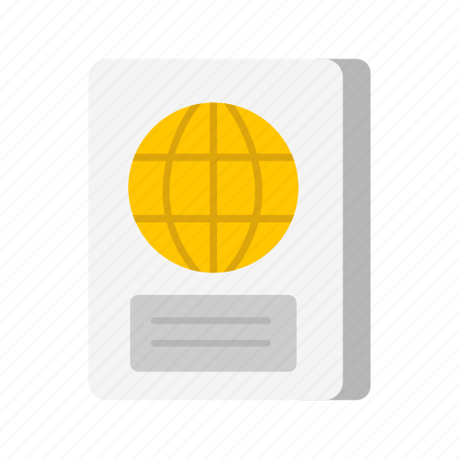 passbook, passport, travel, travel documents icon