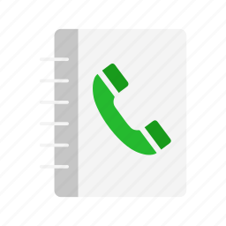 book, contact, contact list, phonebook icon