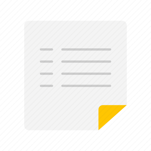 document, list, message, text icon
