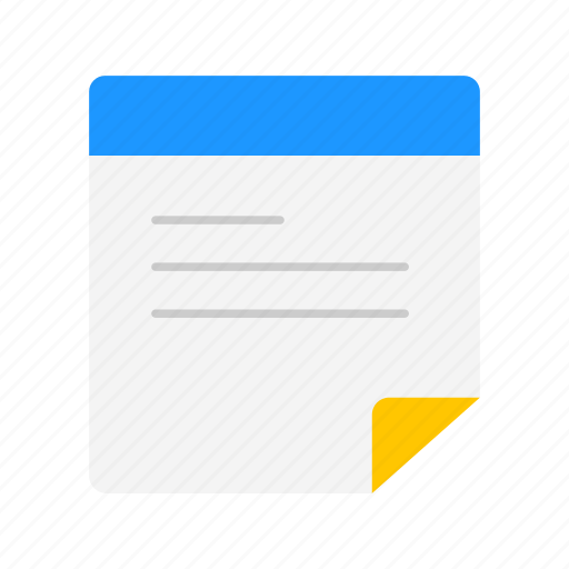 document, file, list, text icon