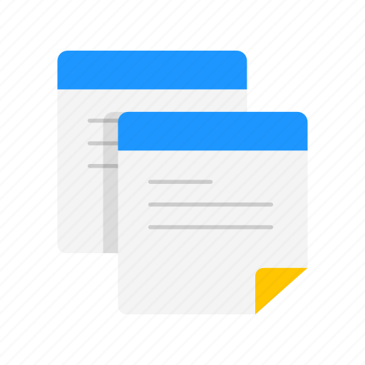 copy, duplicate, paper, text icon