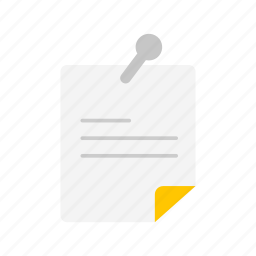 bulletin, file, message, note icon