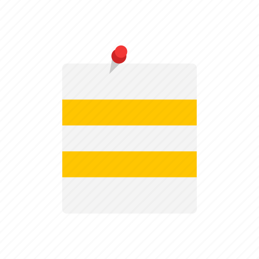 file, message, post it, to do list icon