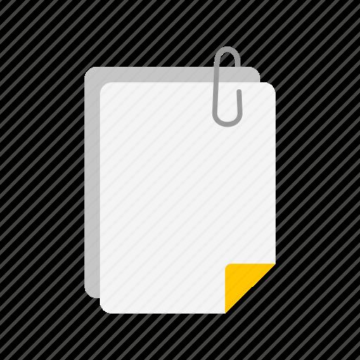 attachment, documents, files, paper clip icon