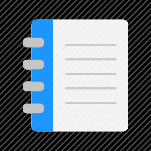 journal, list, notebook, spiral notebook icon