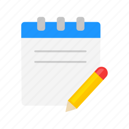 journal, list, notebook, pen and paper icon