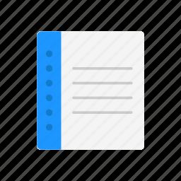 book, journal, list, notebook icon