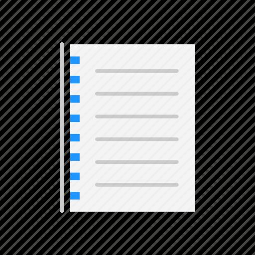 journal, list, planner, to do list icon