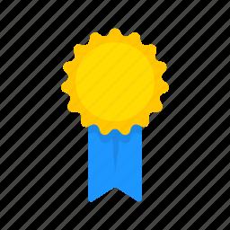 achievement, award, ribbon, top icon