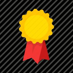award, badge, ribbon, top icon