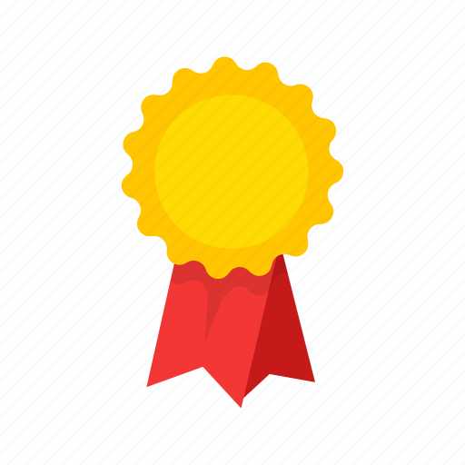 award, badge, ribbon, top icon