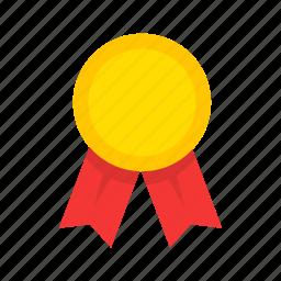 achievement, award, medal, ribbon icon