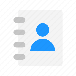 contact list, contacts, friends, phonebook icon