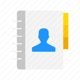 contacts, friends, phonebook, planner icon