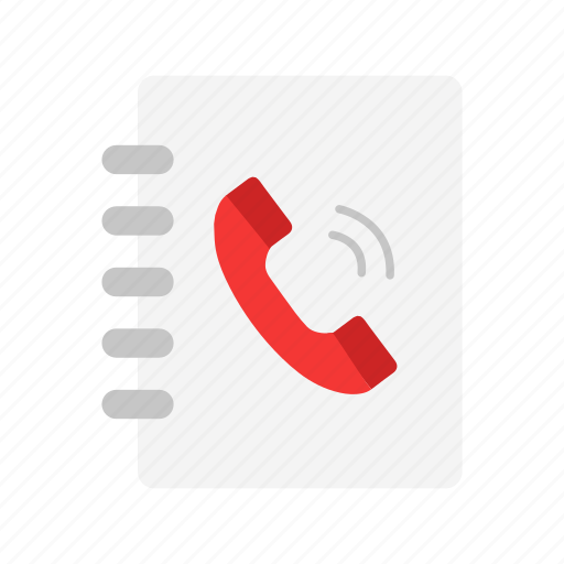 book, contact list, phone, phonebook icon