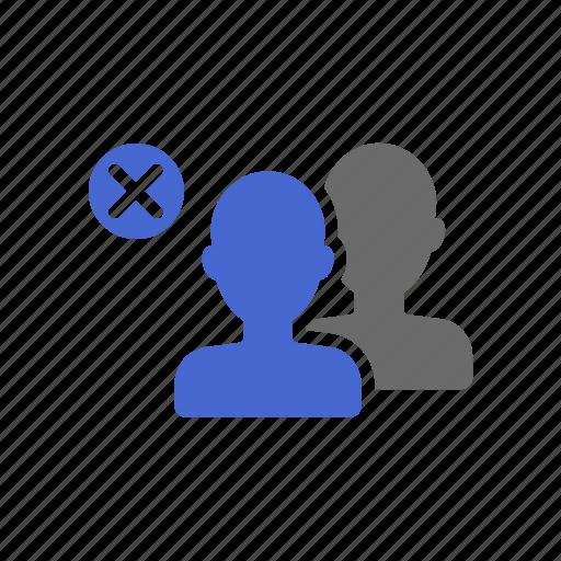 delete, group, member, online, remove, team, user icon