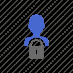 account, locked, member, membership, profile, secure, user icon