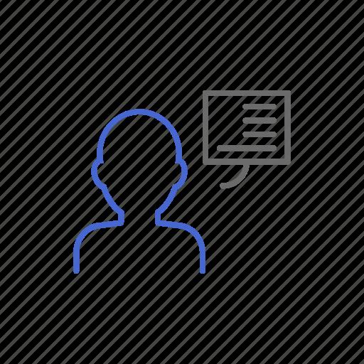 blog, blogger, chat, conversation, forum, message, talking icon