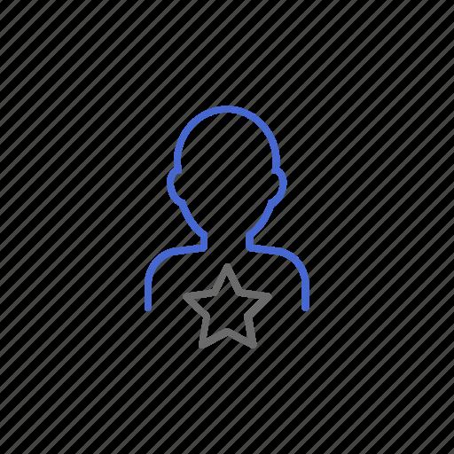 best, certified, leader, premium, star, top, user icon