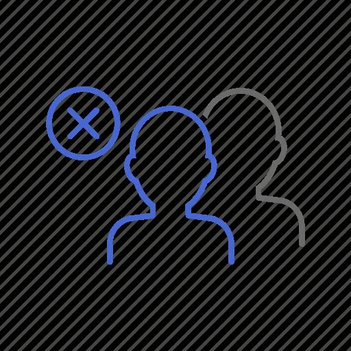 delete, group, member, membership, remove, team, user icon