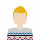 avatar, man, sweater, winter icon