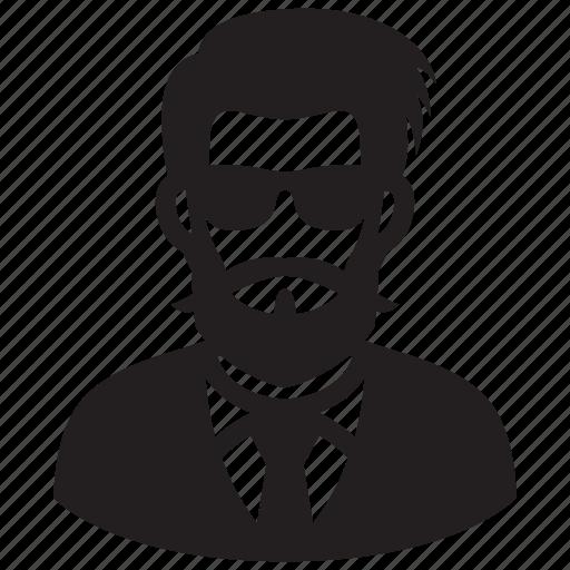 avatar, beard, businessman, hairstyle, man, portrait icon