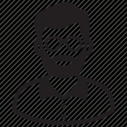 adult, avatar, beard, business, man, profile, steve jobs icon