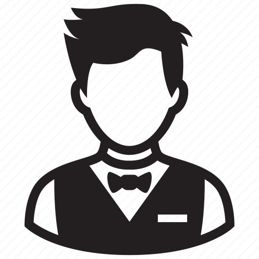 avatar, boy, hairstyle, man, teen, waiter, young man icon