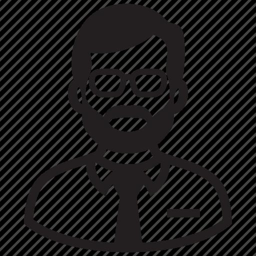 adult, avatar, beard, businessman, man, steve jobs icon