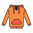 clothing, garment, hoodie, jacket, sweatshirt icon