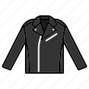 clothing, elegant, fashion, garment, leather jacket icon