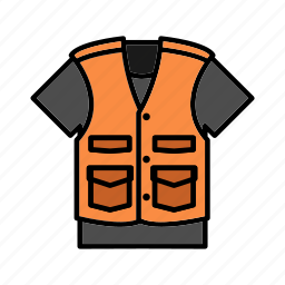 clothing, durable, fishing vest, garment, outdoor vest icon