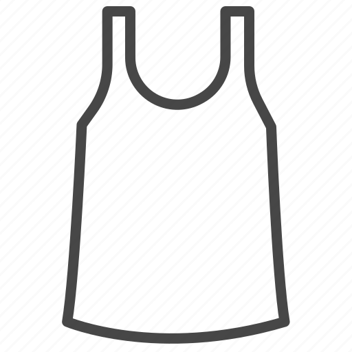 clothes, fashion, men, shirt, tank tops, vest icon