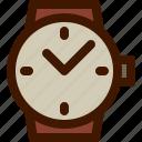 fashion, luxury, men, time, watch icon