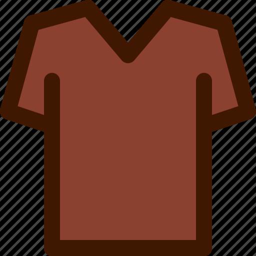 fashion, neck, shirt, simple, top, v icon