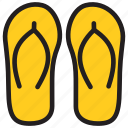 beach sandal, flip flops, footwear, slippers icon
