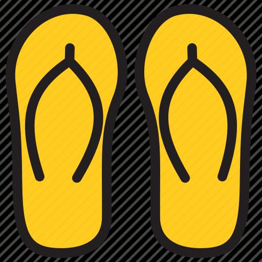beach sandal, flip flops, footwear, slippers icon