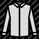clothes, fabric, fashion, long, man, shirt, sleeves icon
