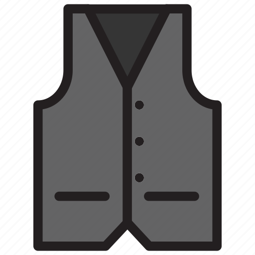clothes, fashion, hipster, man, vest icon