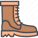 boots, clothes, filled, men, outline icon