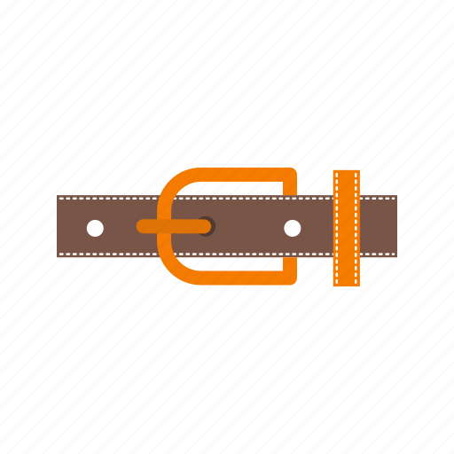 belt, brown, buckle, fashion, hole, strap, waist icon