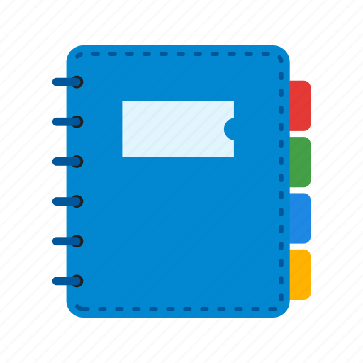 business, diary, notebook, notes, office, organizer, table icon
