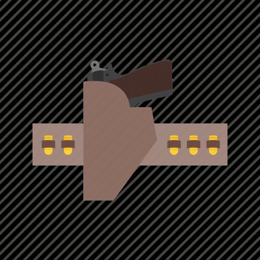 gun, handgun, holster, metal, pistol, steel, weapon icon